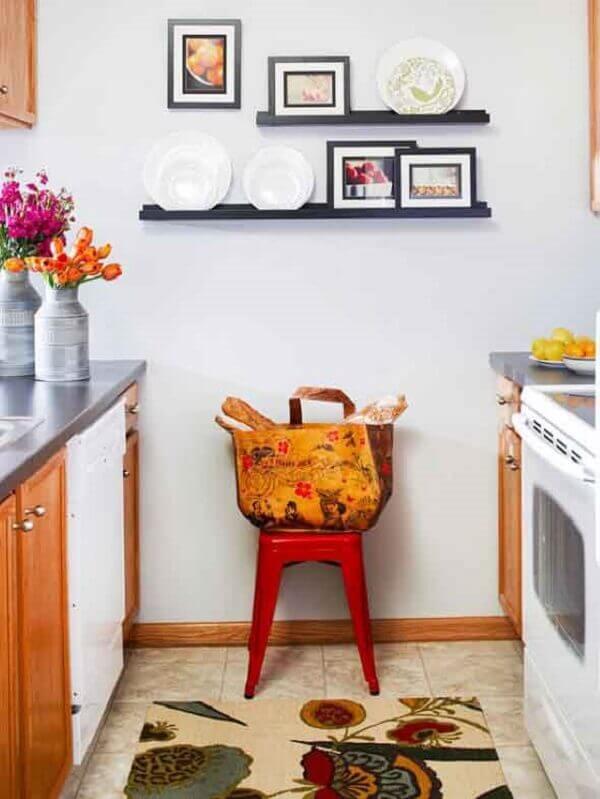 Quadros para cozinha em prateleira