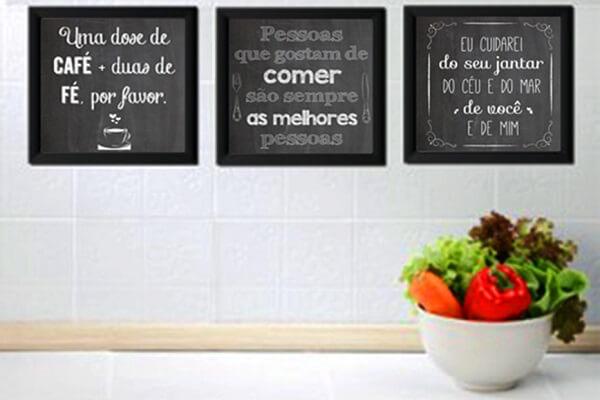 Quadros para cozinha na decoração