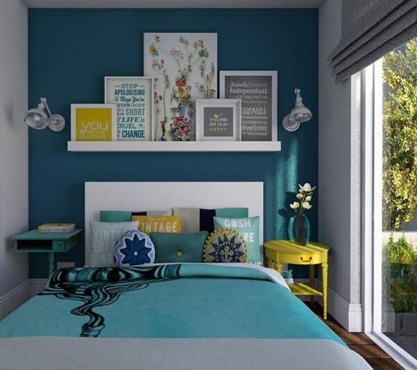 Quadros para quarto na cor azul