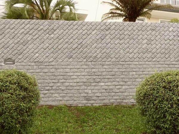 Revestimento de parede externa com pedra