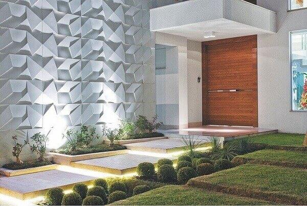 Revestimento de parede externa com pedras naturais