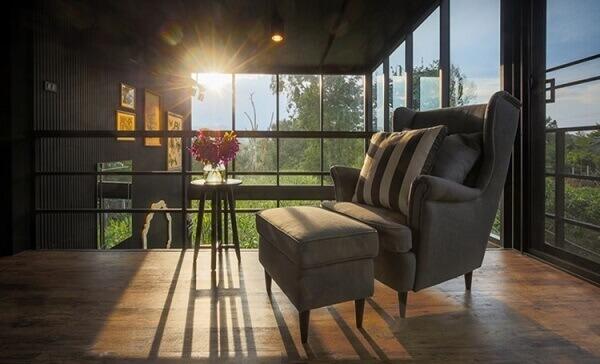 Sacada de vidro é uma área de relaxamento