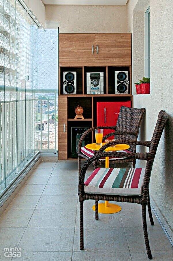 Sacada de vidro pode criar um ambiente de relaxamento