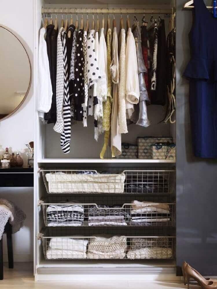 cesto aramado para gaveta de closet Foto Design Mag