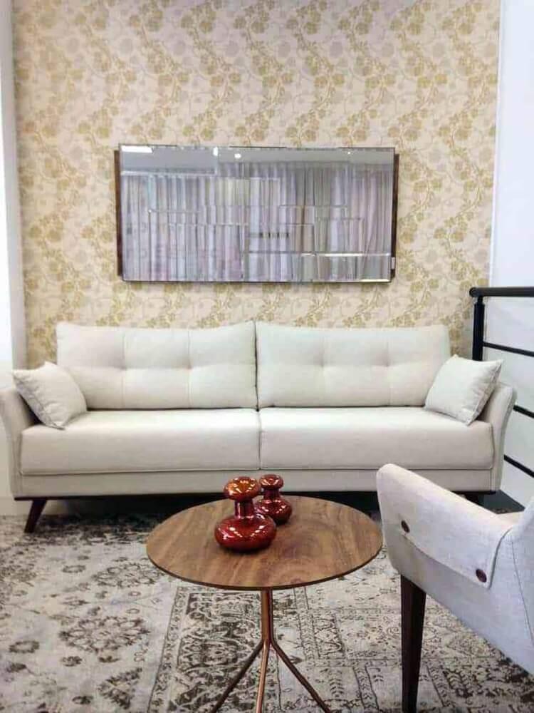 decoração clássica com sofá para sala pequena Foto Pinterest