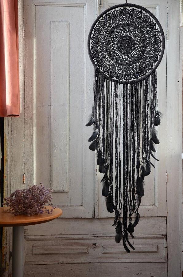 decoração com filtro dos sonhos preto Foto Etsy
