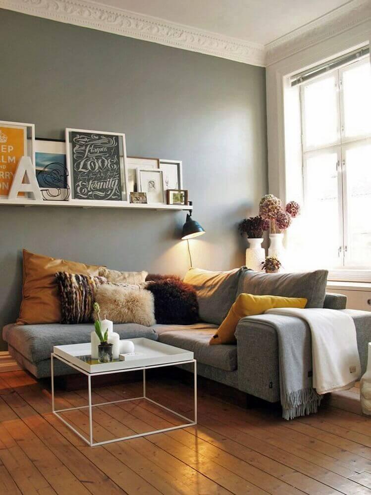 decoração contemporânea com sofá em l para sala pequena Foto Decoration De Maison