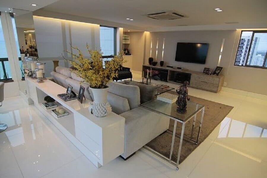 decoração de casa com piso nanoglass Foto Maurício Guimarães