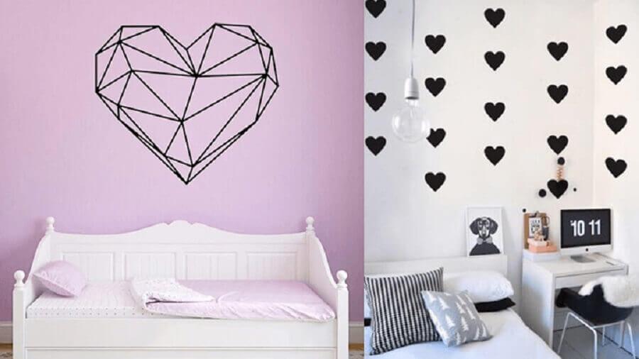 decoração de quarto com adesivos de parede