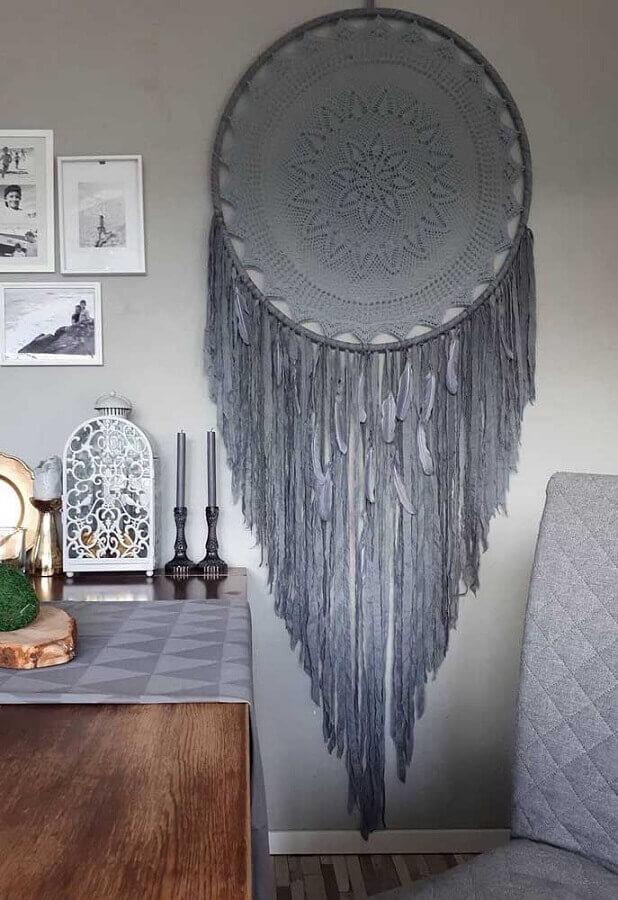 decoração de sala com filtro dos sonhos cinza grande Foto Pinterest