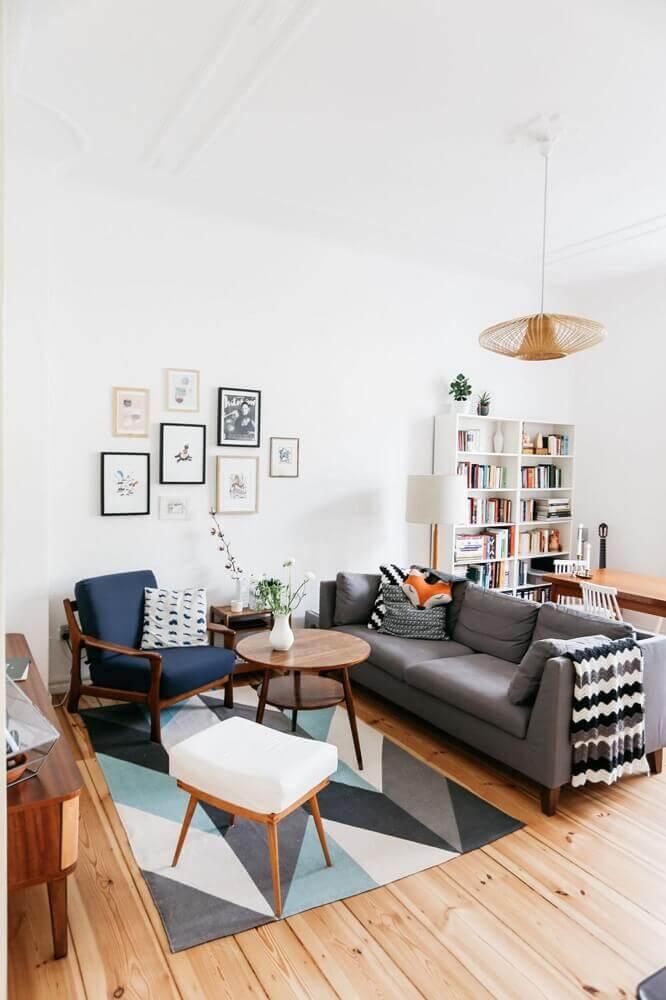 decoração estilo minimalista com sofá cinza para sala pequena Foto Decoration De Maison