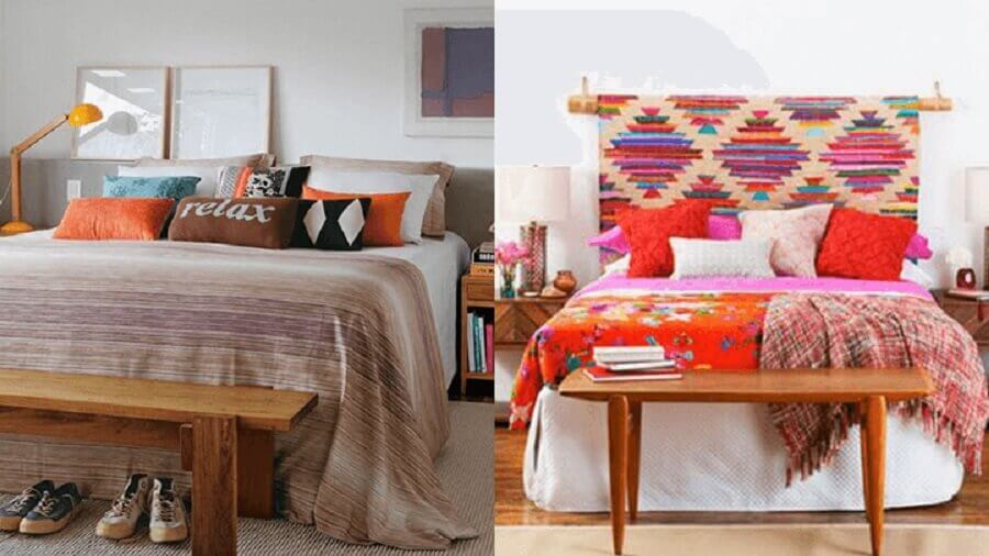 decoração para quarto com roupa de cama diferente