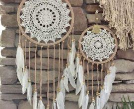 decoração rústica com filtro dos sonhos  Foto Coisas da Maria
