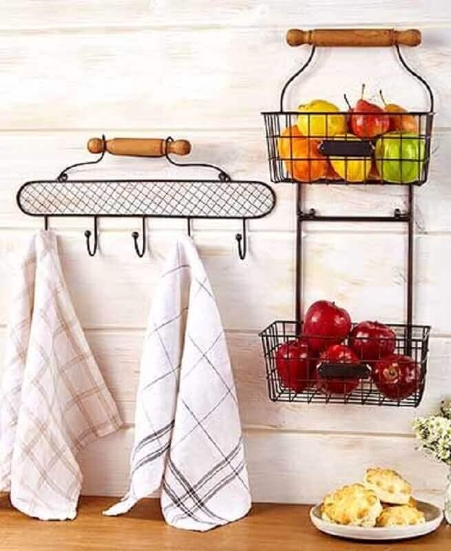 decoração simples com aramado cozinha Foto Pinterest