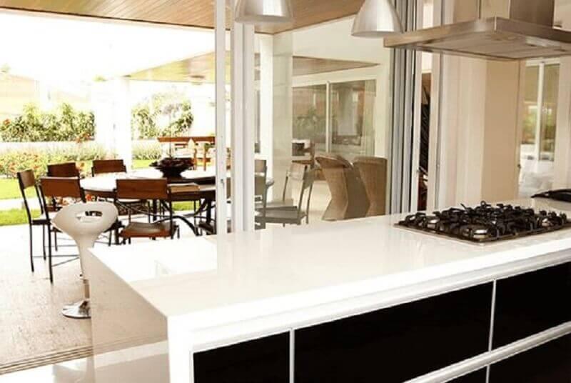 ilha de cozinha de pedra nanoglass Foto Pinterest