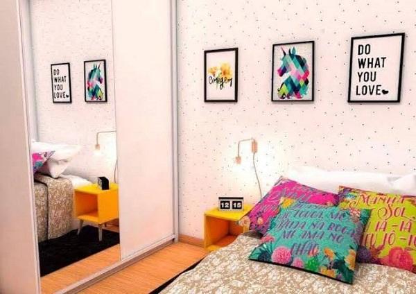 Modelos de quadros para quarto com frases e imagens criativas