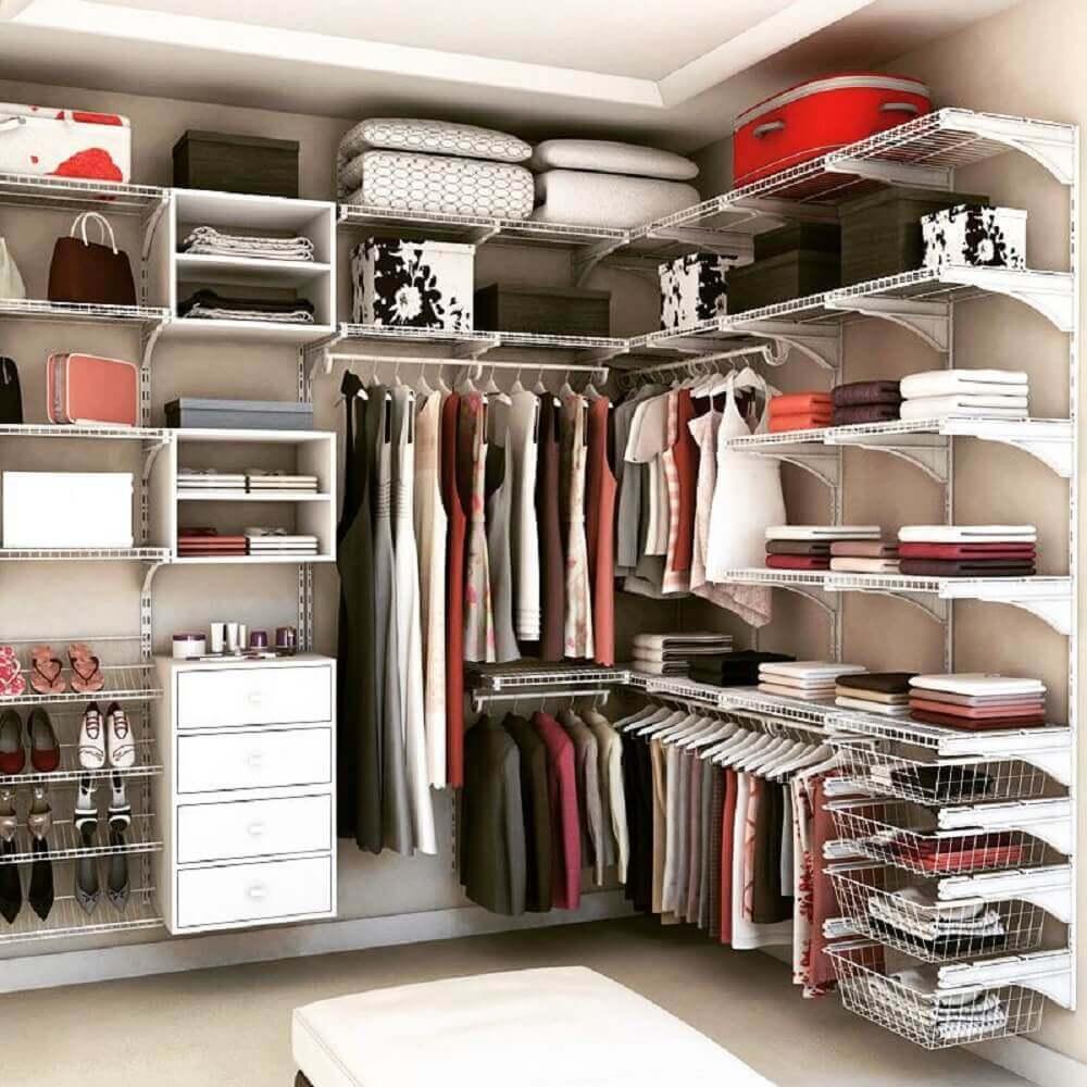 modelo de closet aramado organizado Foto Pinterest