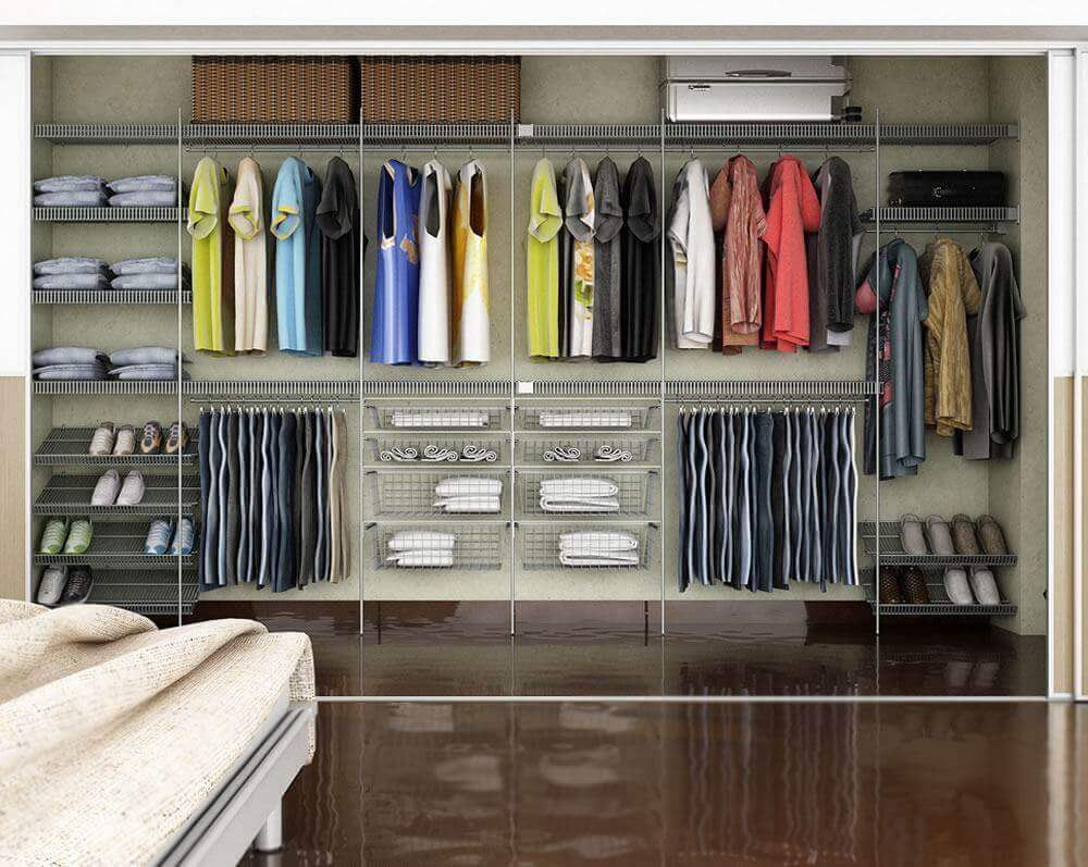 modelo grande de closet aramado Foto Wood Save