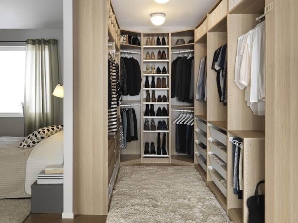 organização para quarto com closet Foto Kızlar Semti