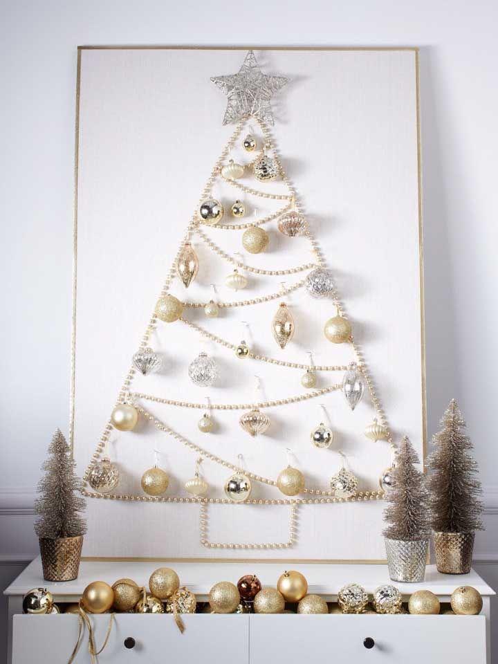 Painel de natal com bolas e luzes