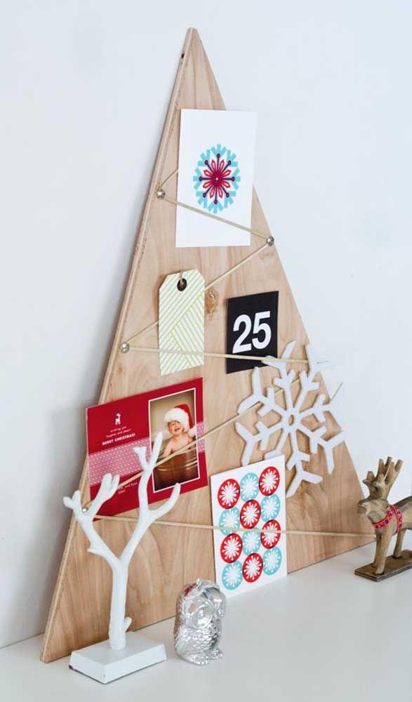 Painel de natal com fotos e enfeites