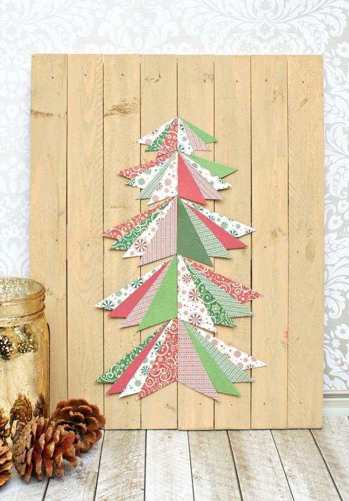 Painel de natal de madeira