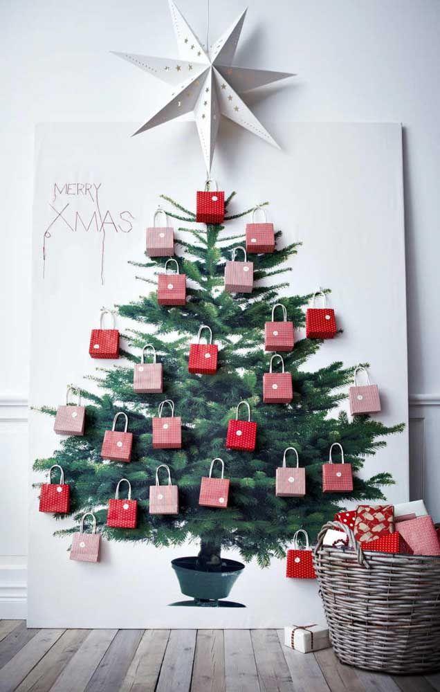 Painel de natal com presentes