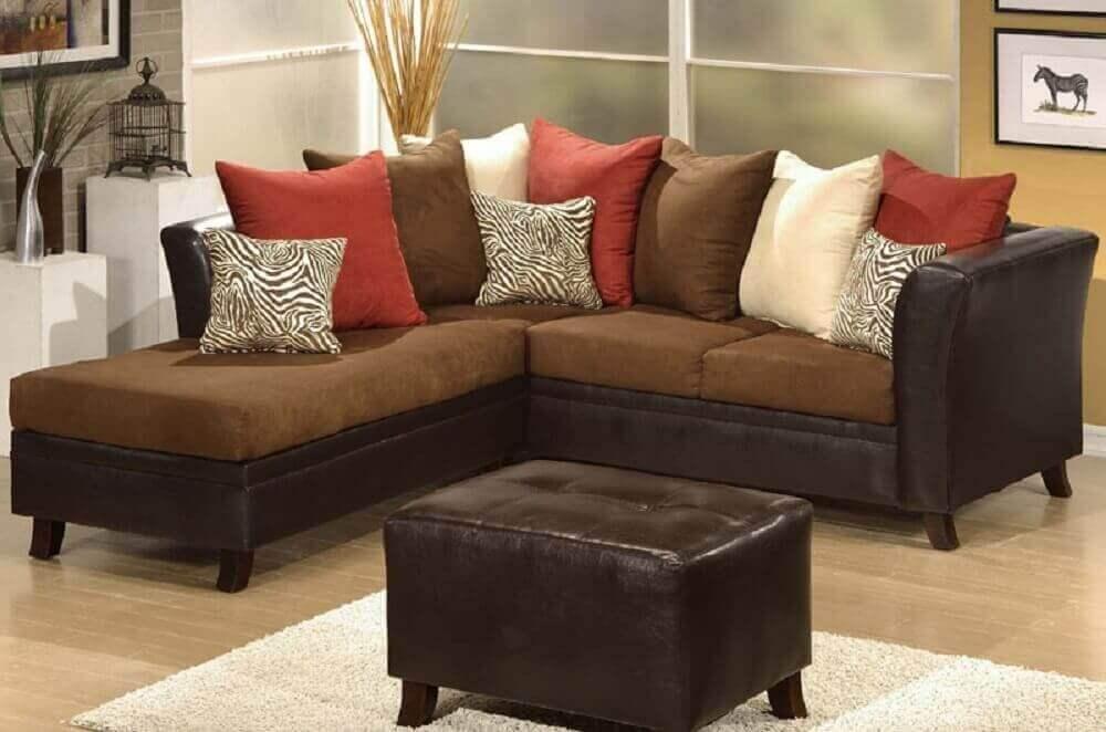 sofá em l para sala pequena Foto Webcomunica