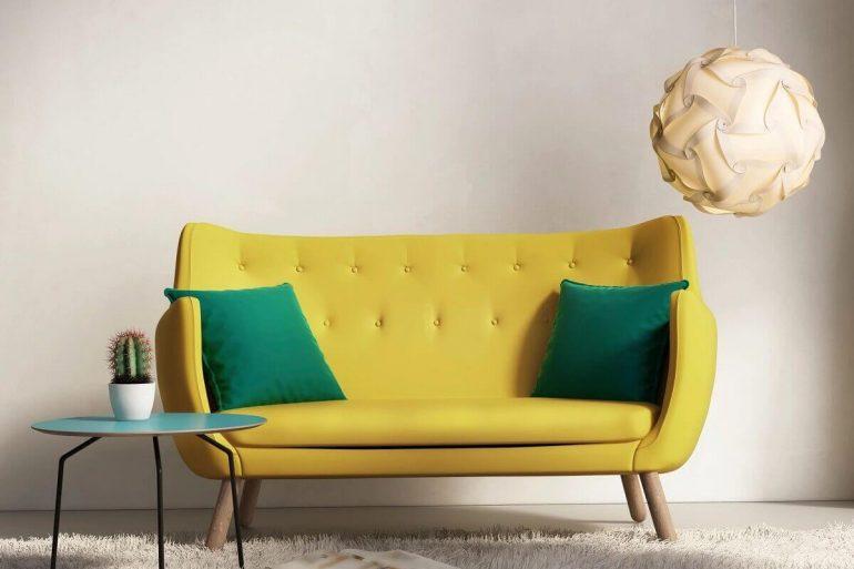 sofá pequeno para sala de estar com design moderno