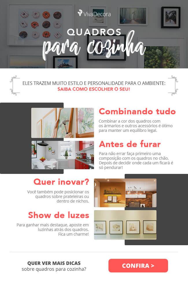 Infográfico - Quadros para Cozinha
