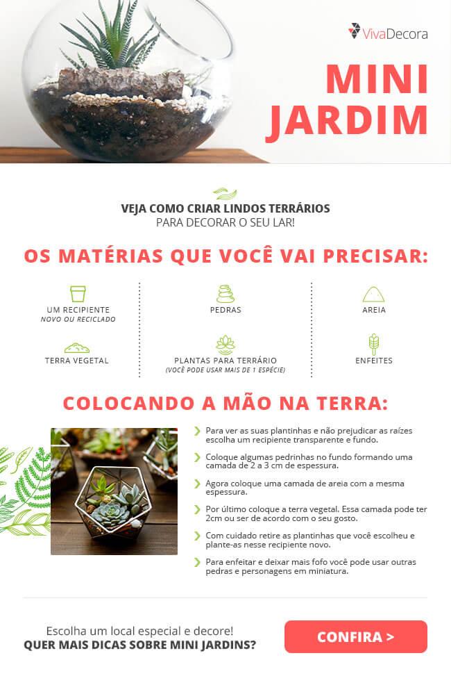 Infográfico - Mini Jardim