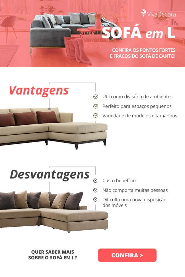 Infográfico - sofá em L