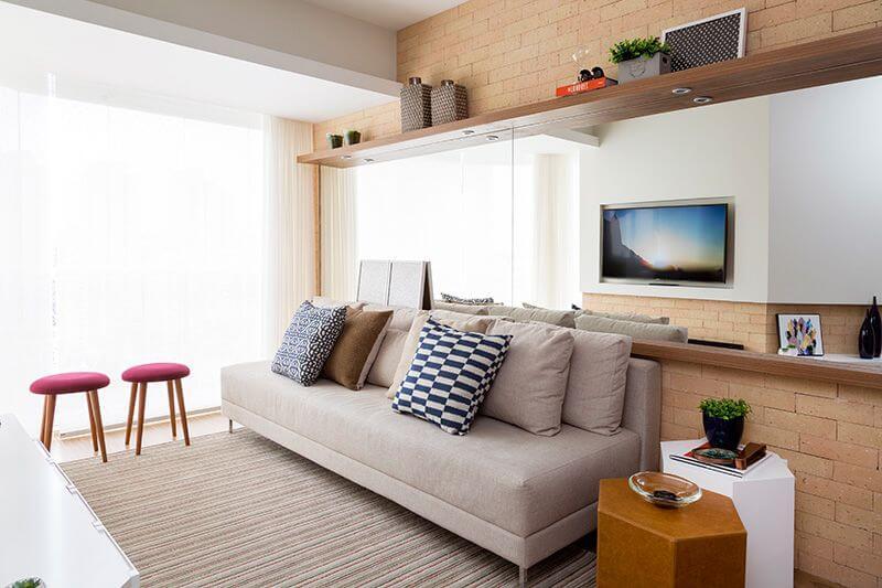 Como organizar a casa com a sala organizada Projeto de Studio Novak