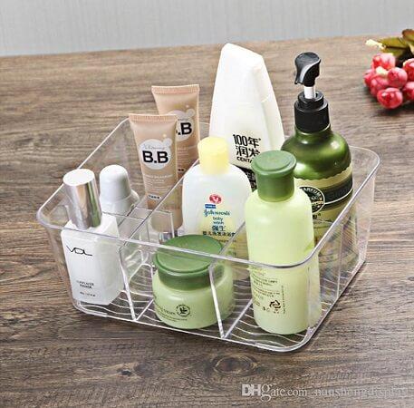 Como organizar a casa com caixas organizadoras com produtos de beleza Foto de DH Gate