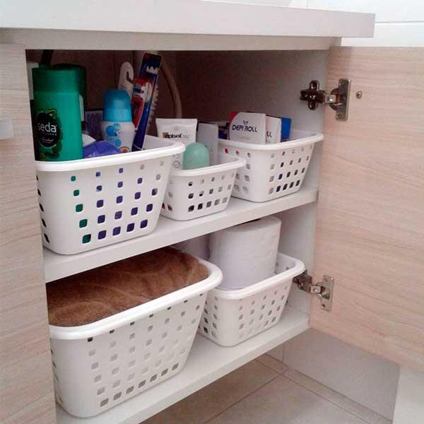Como organizar a casa com organizadores no banheiro Foto de Organize Seu Dia