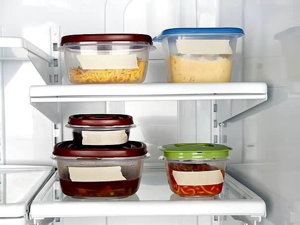 Como organizar a casa com potes na geladeira Foto de Alvitek Lar