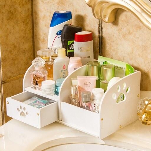 Como organizar a casa separando os produtos de beleza Foto de AliExpress