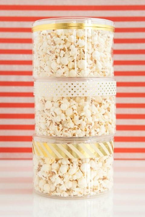 Embalagens com pipoca como lembrancinhas de casamento Foto de Salve a Noiva