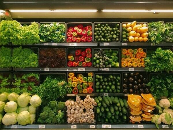 Lista de compras de verduras e legumes