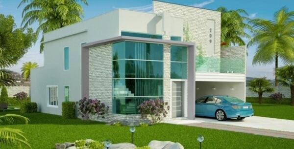 Platibanda em projeto de casa