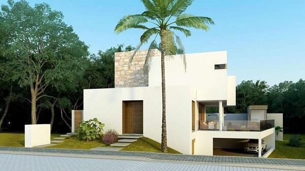 Platibanda fachada moderna de casa