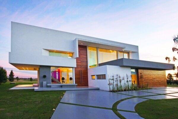 Platibanda na casa moderna