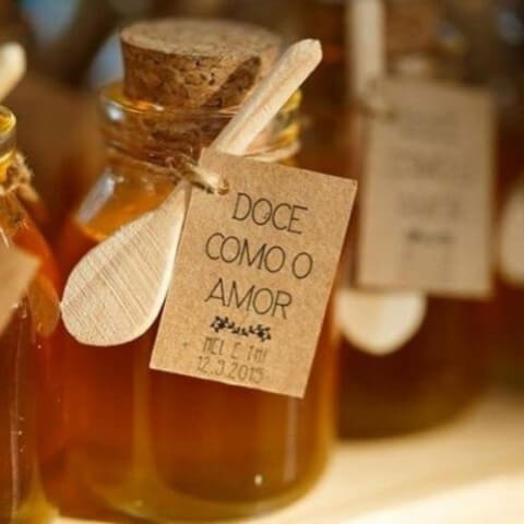 Potes de mel como lembrancinhas de casamento Foto de Aceito Sim