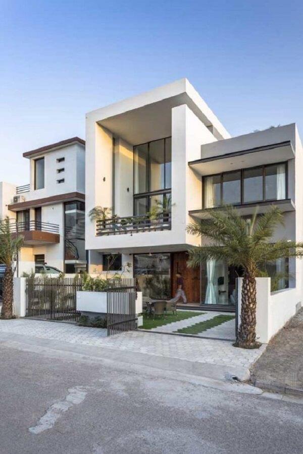 Projeto de casa moderna com platiband
