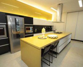 Silestone em cozinha moderna casaearquitetura