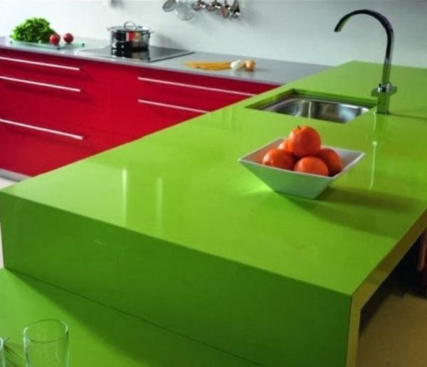 Silestone verde fun em cozinha gourmet