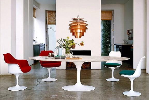 Tipos de cadeiras estofadas Tulipa Foto de Pinterest