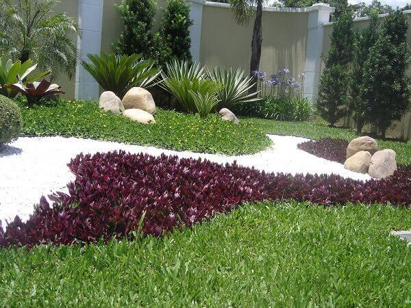 Tipos de plantas para jardim colorido e com pedras