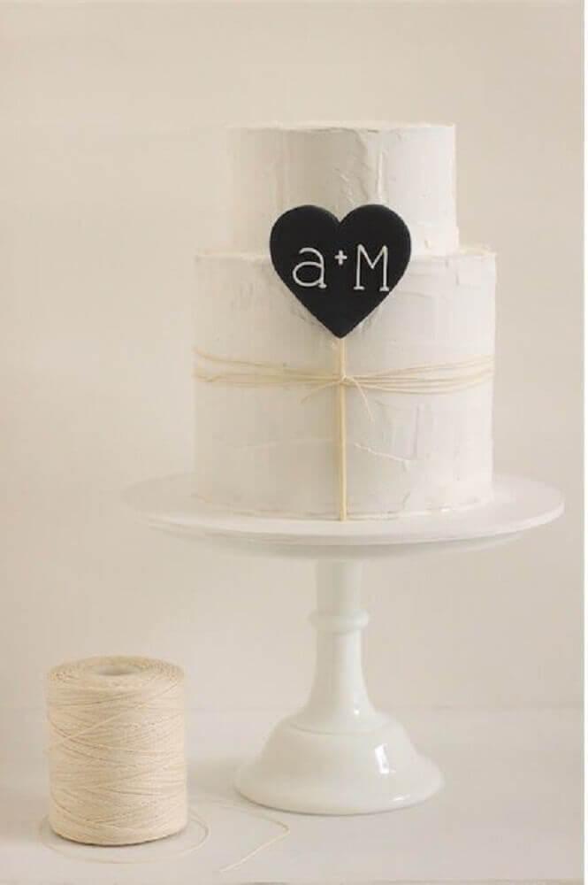 bolo de casamento simples e moderno Foto Makea Hääblogi