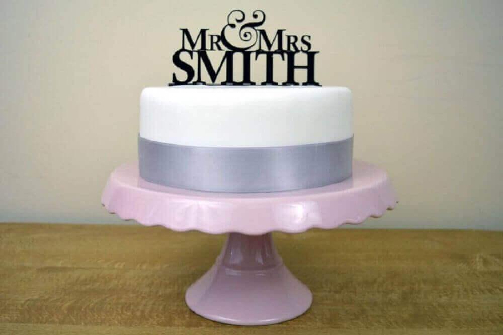 bolo simples de casamento Foto The Holk